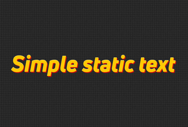 Simple static text line