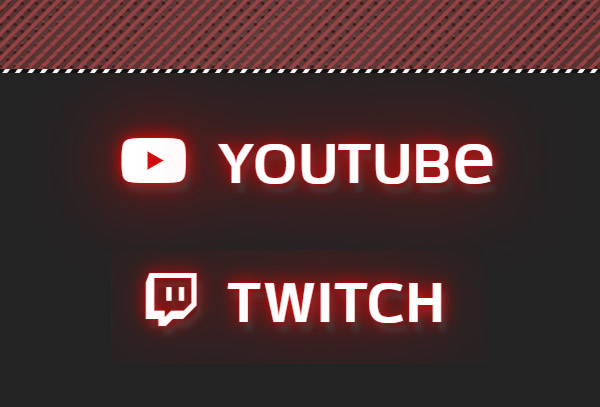 2 social icons animated Yt Twitch