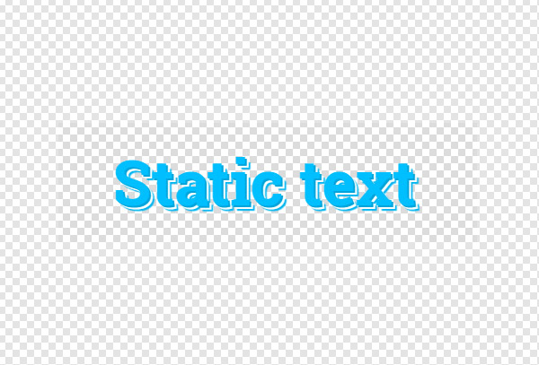 Static text