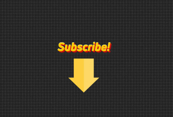 Youtube sub arrow