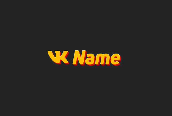 Static Vk account line