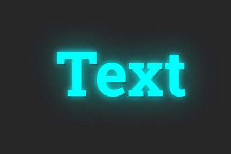 Neon effect for small text